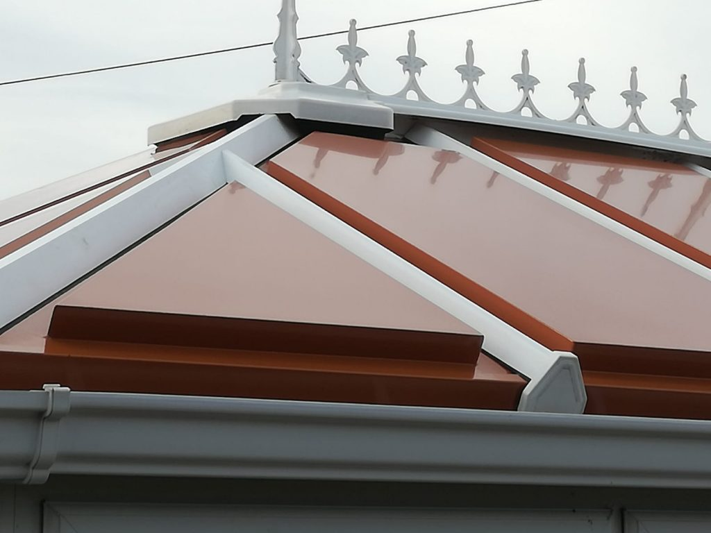 terracotta conservatory roof panels in a victorian design
