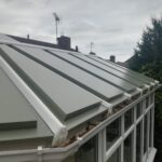 conservatory roof colours showing green roof with white conservatory