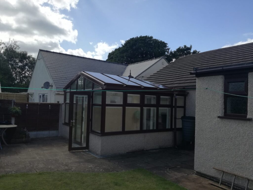 coloured conservatory roof