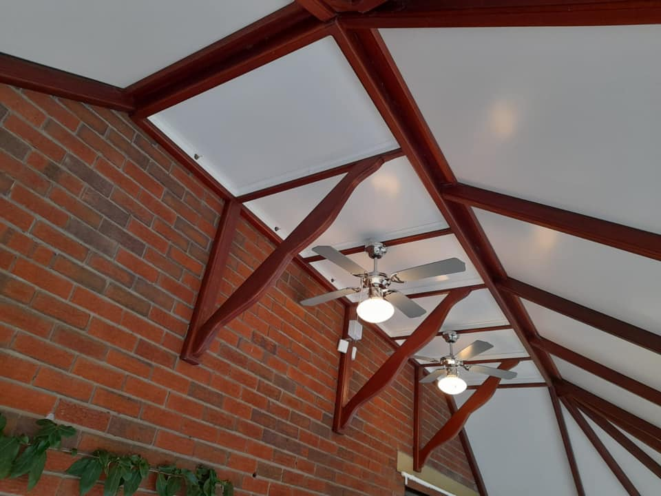 white interior conservatory roof colours
