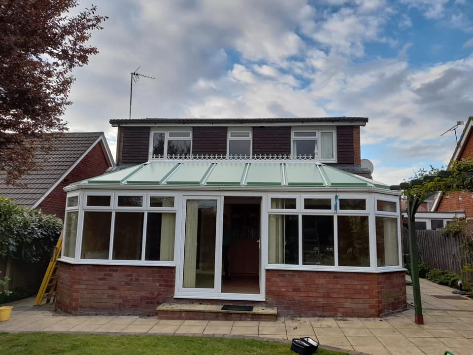heritage conservatory roof colour in a detached house