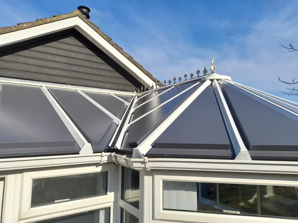 grey aluminium conservatory roof colours